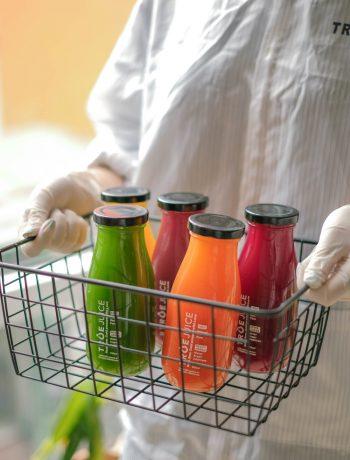 quy trình vệ sinh chai lọ True Juice