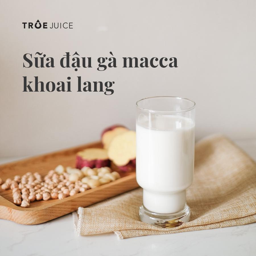 sữa đậu gà macca khoai lang