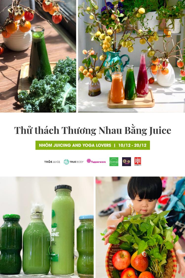 thử thách Thương nhau bằng juice